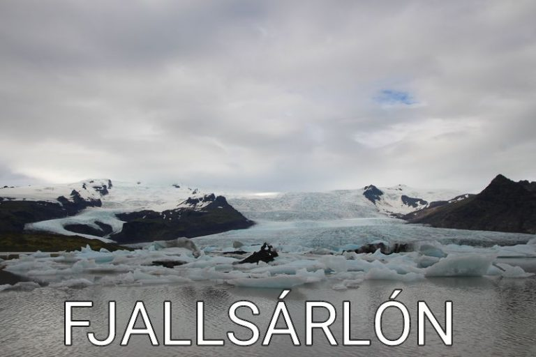 Iceland: The stunning, beautiful lagoon of Fjallsárlón