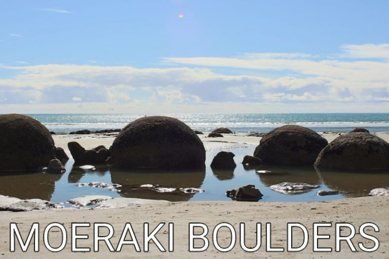 New Zealand: Our start at the Moeraki Boulders