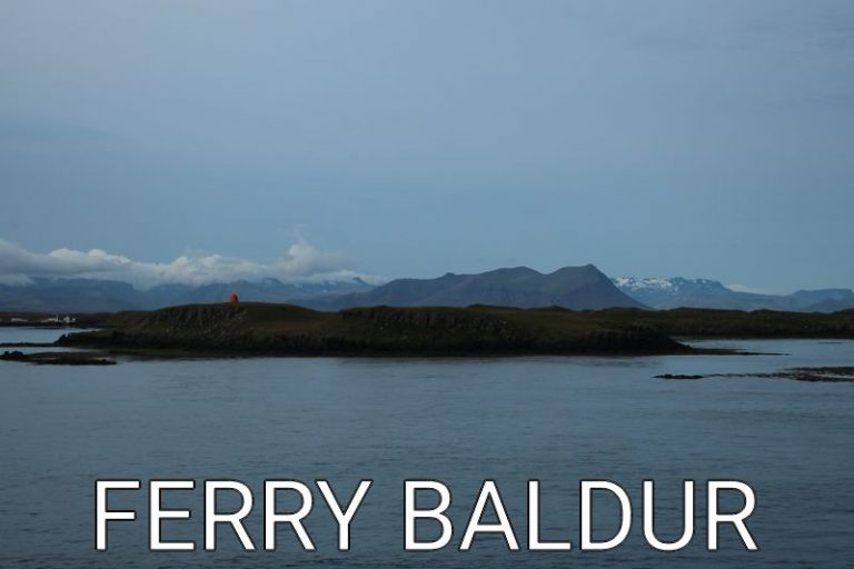 Iceland: Ferry Baldur to the Westfjords
